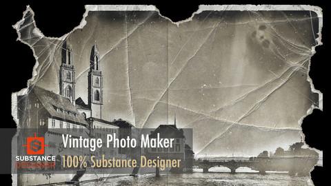 Vintage Photo Maker - 100% Substance Designer