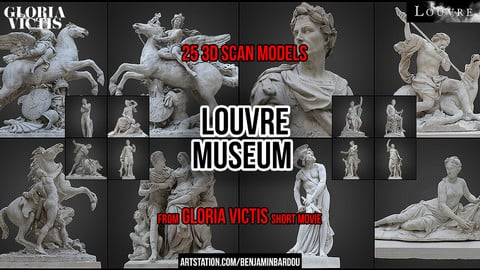 PARIS. 25 3D scans from Louvre Museum