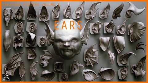 EARS - 40 ZBrush VDMs