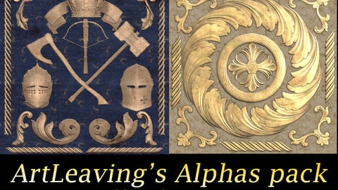 Heraldic and Ornament alphas pack