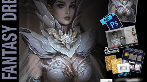 How to draw fantasy dress