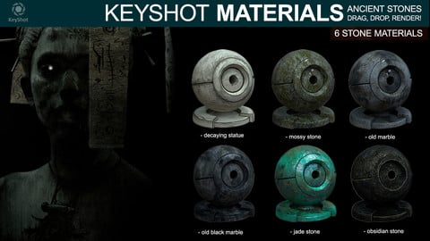 Ancient stone materials - For Keyshot