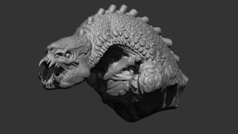 Dragon bust, 3d printing.