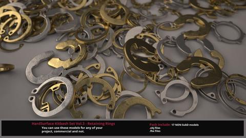 3D HardSurface Kitbash Set Vol.3 - Retaining Rings