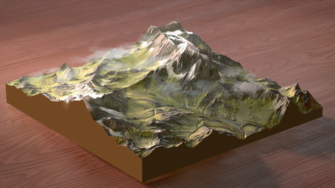 Gaea Terrain - Summer Alps Mountains