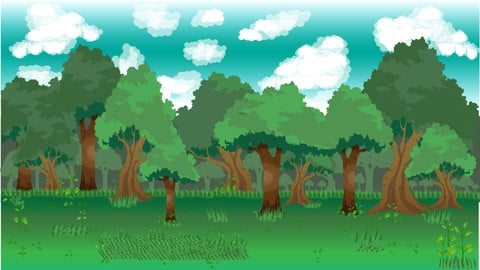 Background for game 2d - Forestry