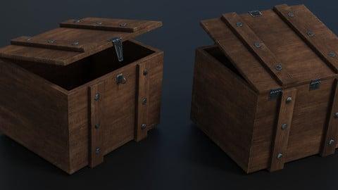 Wooden Ammunition Box