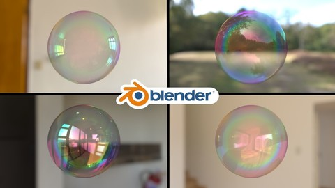Soap Bubble Material for Blender
