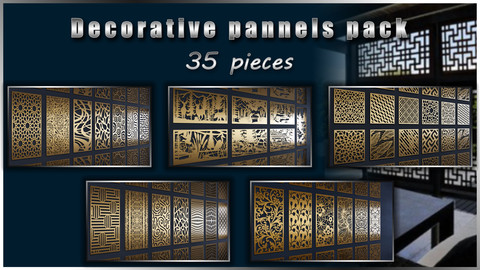 Decorative pannels pack - Vol 1