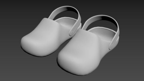 crocs shoes flip flop boots shoe accessories rubber slip 3D model