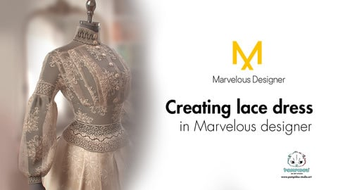 Tutorial on creating lace dress in Marvelous designer