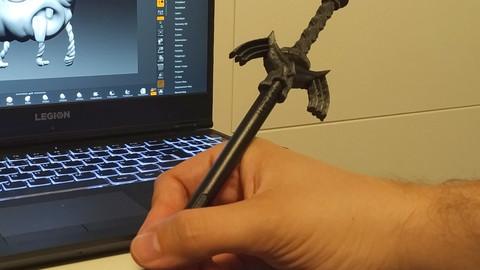 Wacom tablet pen head Zelda Master Sword 3D print model