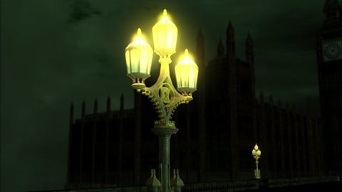 Westminster Bridge Lamp w gritty style textures