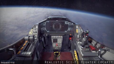 Sci Fi Fighter Cockpit 7 Low-poly 3D model