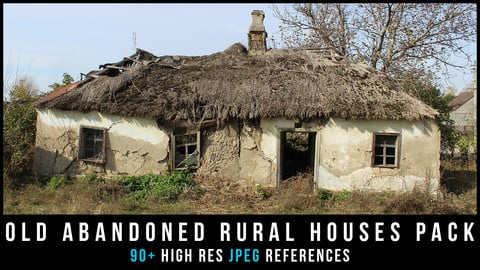 Old abandoned rural houses Pack