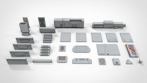 sci-fi Architecture kitbash 12