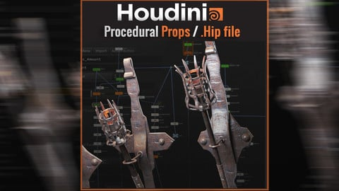 Procedural Props / Free .Hipnc file (Houdini Apprentice)