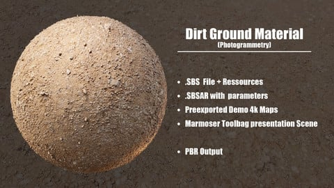 Dirt Ground - Photogrammetry Material
