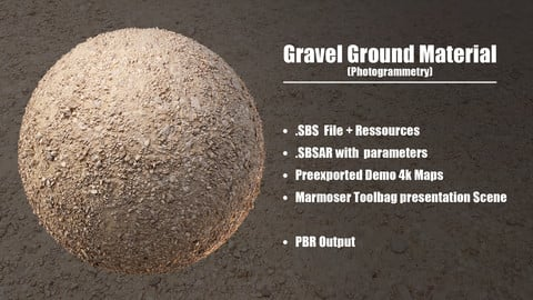 Gravel Ground - Photogrammetry Material
