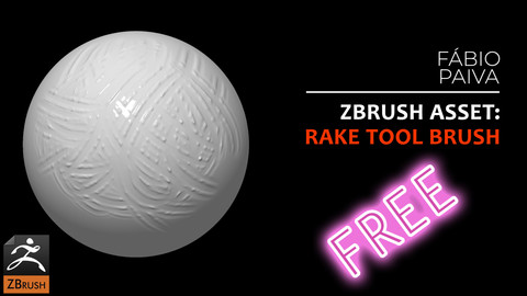 ZBrush asset: rakeTool Brush