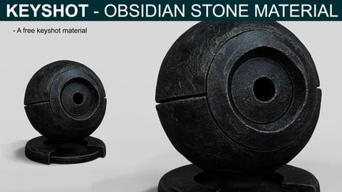 Keyshot - Obsidian Stone Material (Sample)