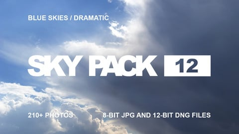 Sky Pack 12 / Dramatic Blue Skies / Clouds reference pack