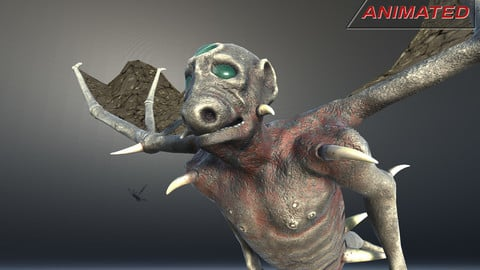 Fantasy creature 01 BatDog