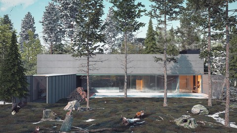 Mountain House vray