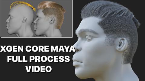HAIR MAYA XGEN CORE GROOMING PROCESS WORKFLOW