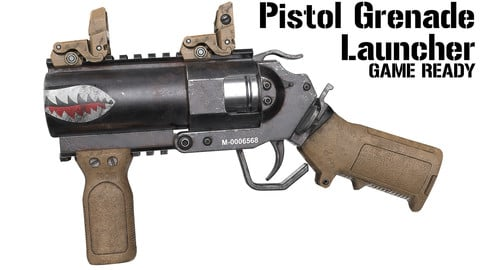 Pistol Grenade Launcher - Game Ready