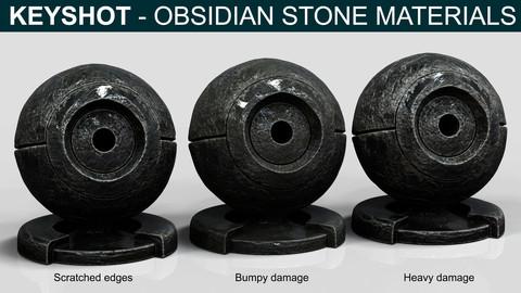Keyshot - Obsidian Stones