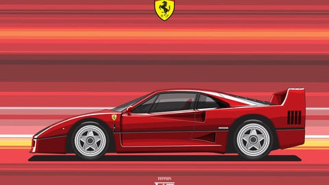 FERRARI F40/Digital File Vector