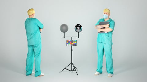 Male surgical doctor with a folder 41