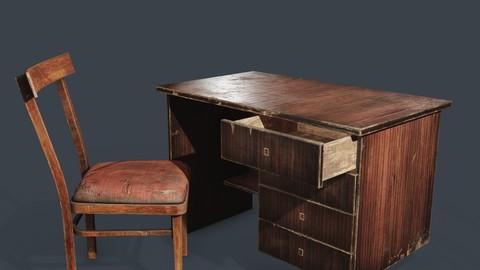 teacher's chair and table
