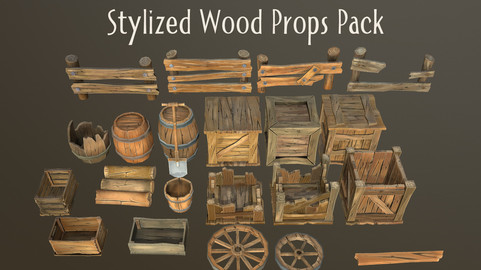 Stylized Wood Props Pack