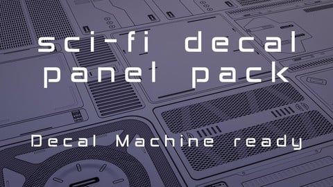 80+ Sci-Fi Panel Decals / Decal Machine ready