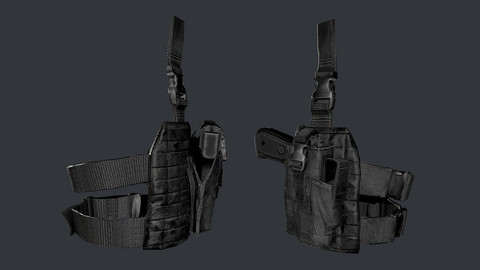 Military Police Gun Holster Game Ready 02