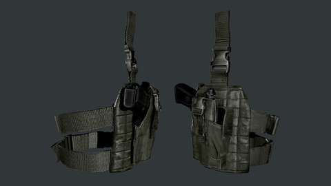 Military Police Holster Equipment Game Ready 03