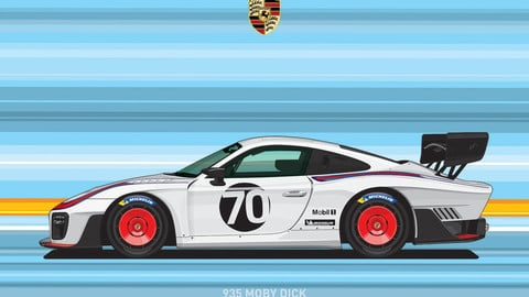 PORSCHE 935/Digital File Vector