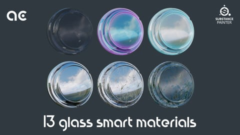 Glass Smart Materials Pack | 13 Smart Materials