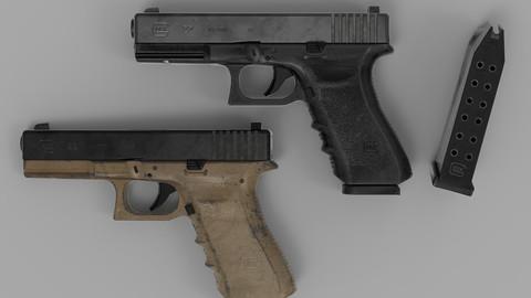 Glock 22 Gameready PBR Pistol
