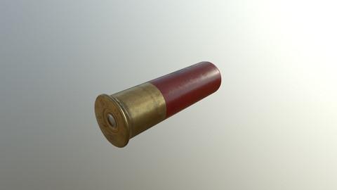 Shotgun Shell 12g Gameready PBR