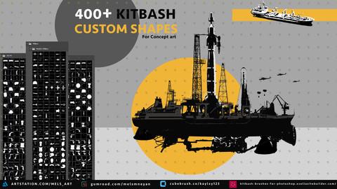 400+ Kitbash Custom shapes