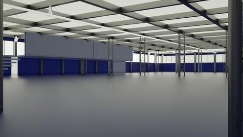 Small Warehouse 2 upper floors 3D model