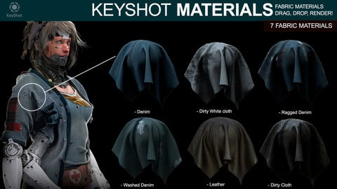 Fabric Materials for Keyshot