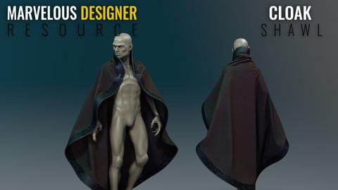Shawl - Marvelous Designer Resource