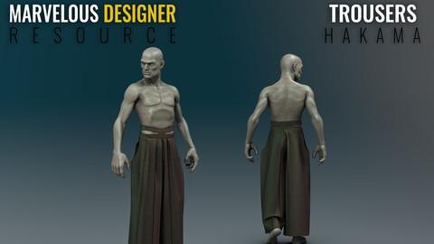 Hakama - Marvelous Designer Resource