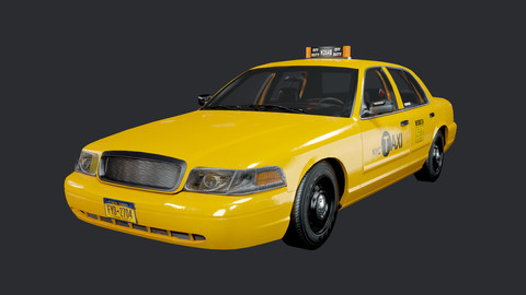 Taxi Cab Vehicle Car Game Ready