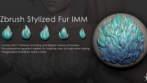 Zbrush Stylized Fur IMM Brush