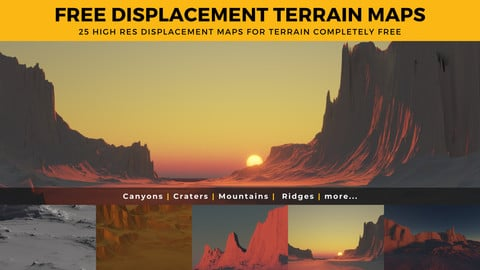 25 FREE Displacement Maps for Terrain